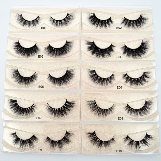 Visofree Mink Lashes 3D Mink Eyelashes 100% Cruelty free Lashes Handmade Reusable Natural Eyelashes Popular False Lashes Makeup 2