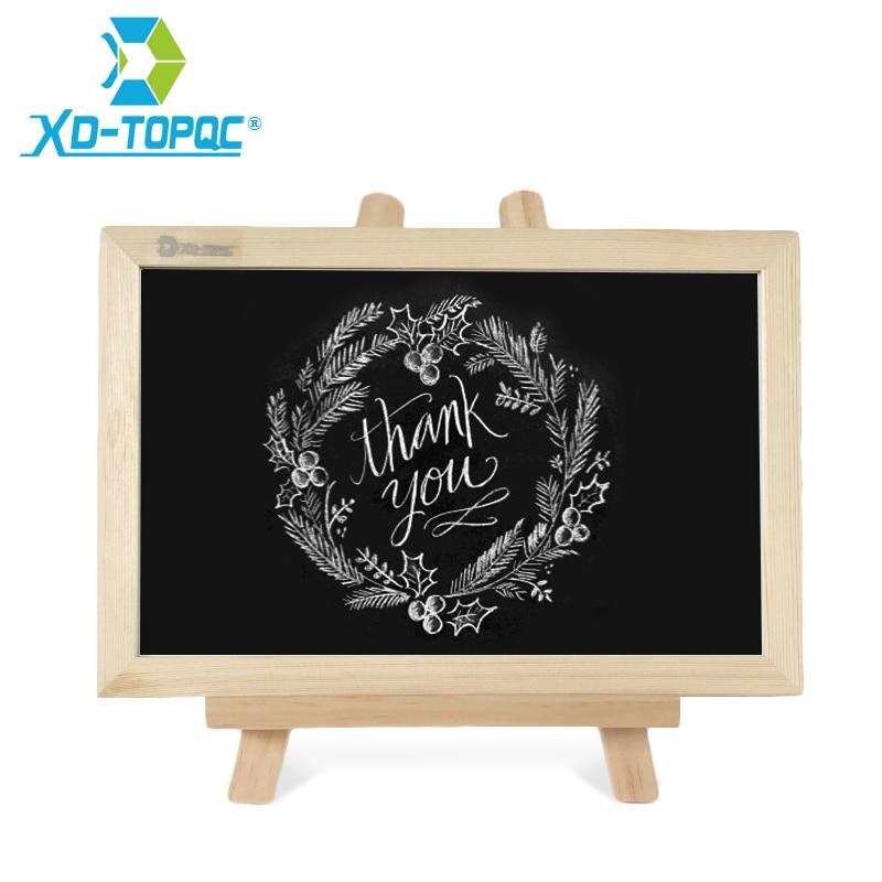 XINDI New 20*30cm Chalkboard Wood Easel Blackboard 11 Colors Wooden Frame Dry Erase Bulletin Drawing Board Message Black Boards 83 9 66cm weekly planner office chalkboard blackboard black chalk board sticker
