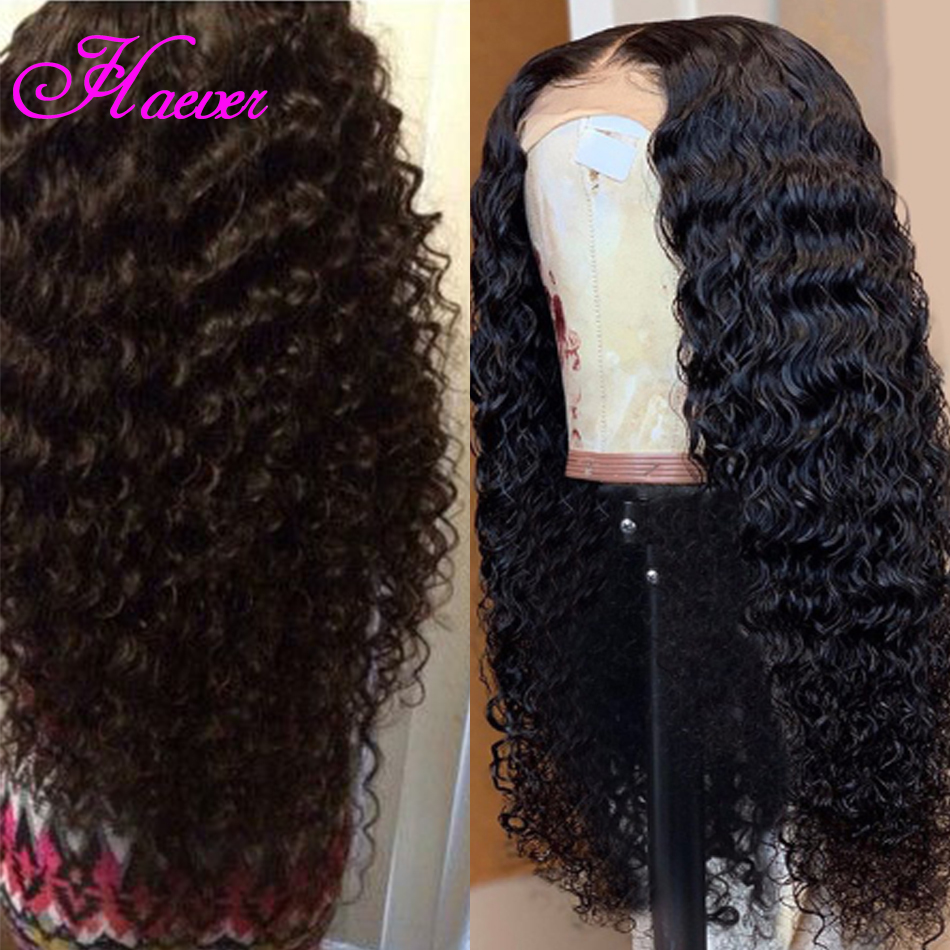 Haever HAIR Malaysian Deep Curly Human Hair Wig For Black Women 150 Density Short and Long Remy Human Hair Wave Lace Front Wigs(China)