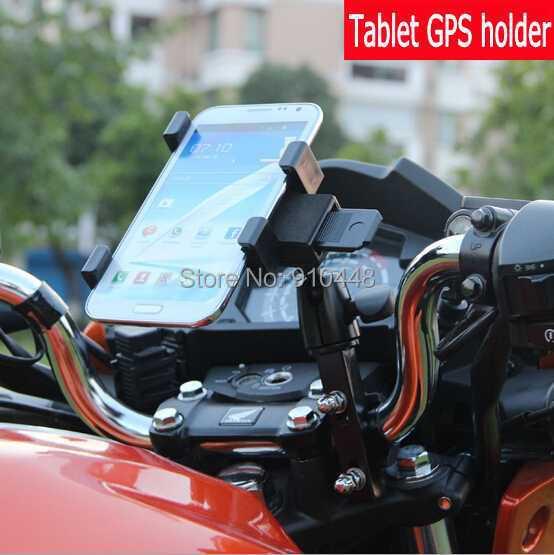 imágenes para Aleación de aluminio de la bicicleta de la motocicleta GPS del teléfono del sostenedor del Montaje para el iphone 7 6 6 s plus samsung nota 7 5 4 3 2 S4 S5 S6 S7 s8 más borde