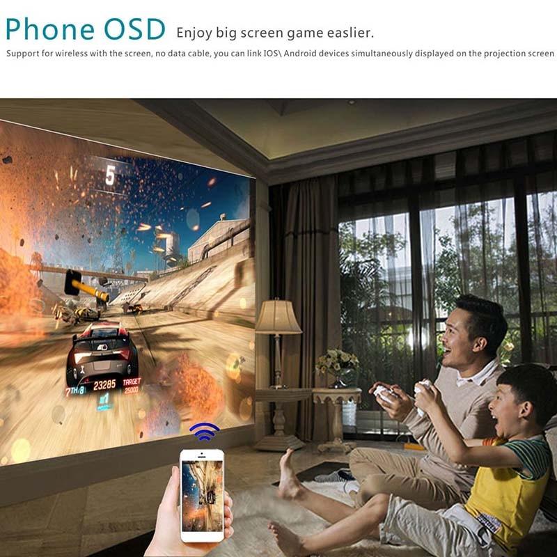 Projecteur haute résolution connectez le téléphone intelligent Durable pour le bureau de cinéma maison IJS998