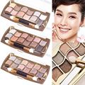 12Colors Shiny Pro Eyeshadow Shimmer Palette Cosmetic Brush Makeup Beauty Set