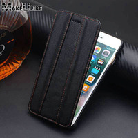 MAKEULIKE Genuine Leather Vertical Case For iPhone 8 Plus 8plus 5.5inch Luxury Magnet Phone Cover For Apple IPhone 8 Plus Case
