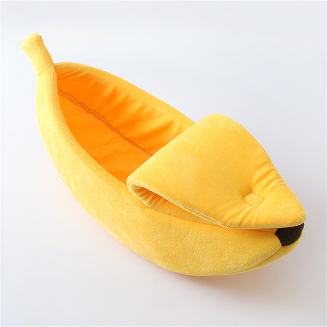 Banana Shape Pet Dog Cat Bed House Mat Durable Kennel Doggy Puppy Cushion Basket Warm Portable Dog Cat Supplies S/M/L/XL 3