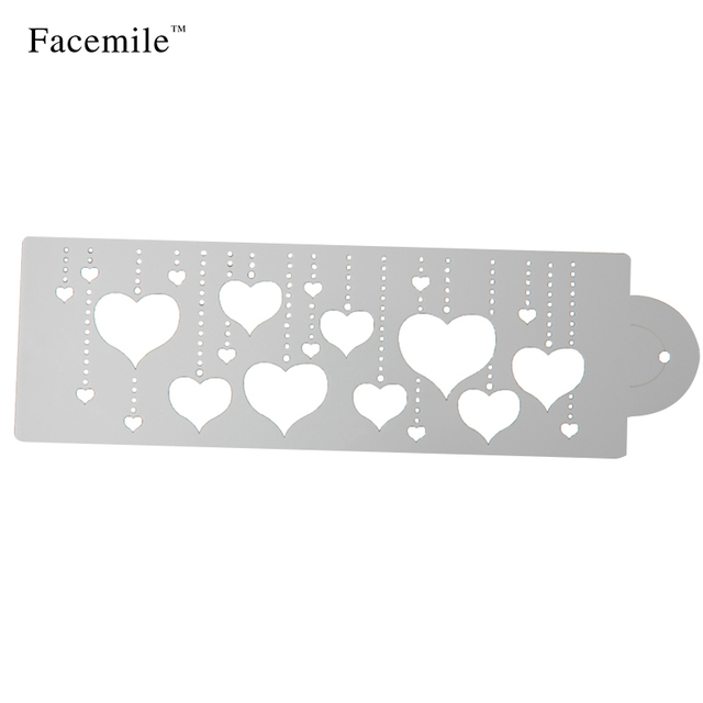 Heart Cake Stencil Decorating Tool