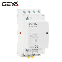 Free Shipping GEYA Contactor 4P 25A 4NO OR 2NO2NC 220V/230V 50/60HZ Din rail Household AC Modular Contactor стоимость