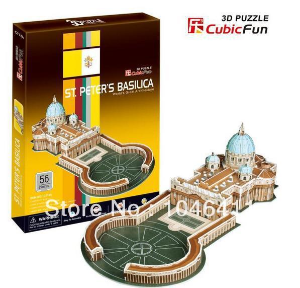 ST. Peter's Basilica CubicFun 3D educational puzzle Paper & EPS Model Papercraft Home Adornment for christmas gift