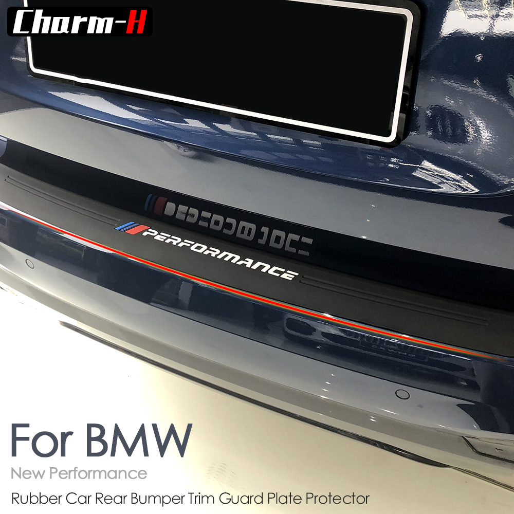 Car Styling New M Performance Soft Rubber Rear Bumper Trim Guard Plate Protector For bmw g01 X3 Protective Sticker Accessories in Car Stickers from Automobiles Motorcycles