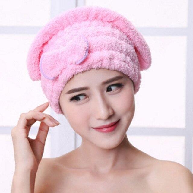 Mikrofiber Renkli Sıcak Satış Hızla Kuru Saç Şapka Saç Türban Kadın Kızlar Bayanlar Kap Banyo Kurutma Havlu Başkanı Wrap Şapka