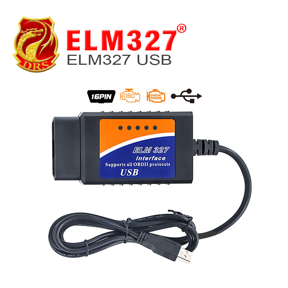 Prix pour En gros OBD/OBDII scanner ELM 327 voiture de diagnostic interface outil d'analyse ELM327 USB prend en charge tous les protocoles OBD-II