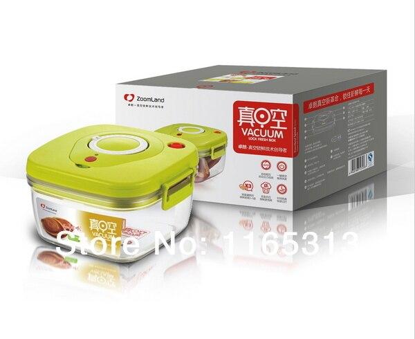 Free shipping Vacuum Lock Fresh Box 1360ml canister pc plastic key
