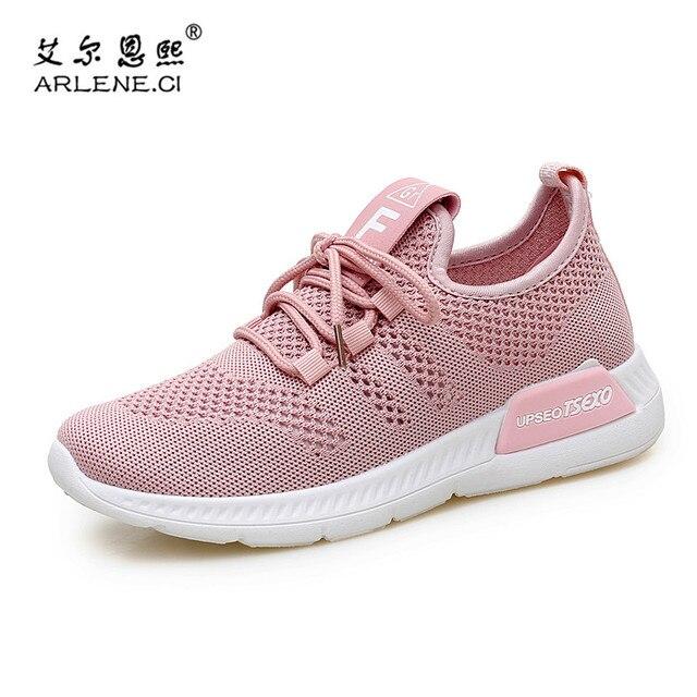 61b7eb2f Tenis Feminino 2018 Tenis de las mujeres zapatos cómodos zapatos de gimnasio  del Deporte Zapatos de