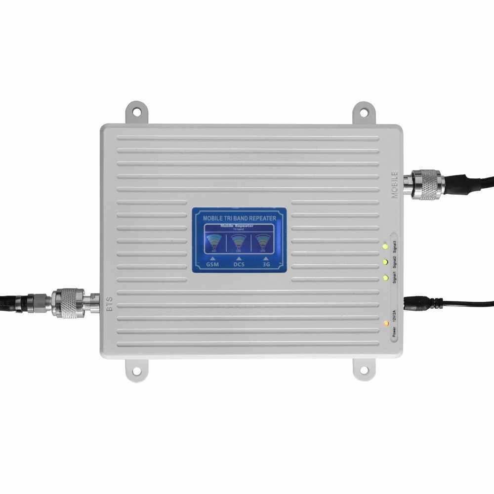 مقوي شبكة مكبر الصوت ثلاثي الموجات مقوي إشارة 900 1800 2100 Gsm Dcs Wcdma 2g 3g 4g Lte مكرر ذكي Aliexpress