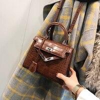 2018 Luxury Handbags Women Bags Designer Crocodile Printed Mini Shoulder bag