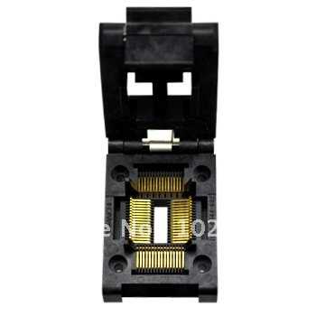 купить 100% NEW IC51-0644 TQFP64 QFP64 LQFP64 IC Test Socket / Programmer Adapter / Burn-in Socket ( IC51-0644-692)0.8MM по цене 4054.39 рублей