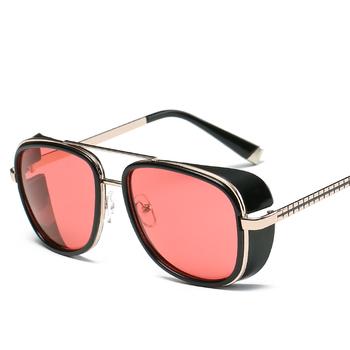 Samjune Iron Man 3 Matsuda TONY stark okulary mężczyźni Rossi powłoka retro Vintage projektant okulary óculos Masculino Gafas del tanie i dobre opinie WOMEN Okład Dla dorosłych Z tworzywa sztucznego Lustro UV400 Antyrefleksyjną Gradient 5 3CM Z poliwęglanu XY62 6 0CM