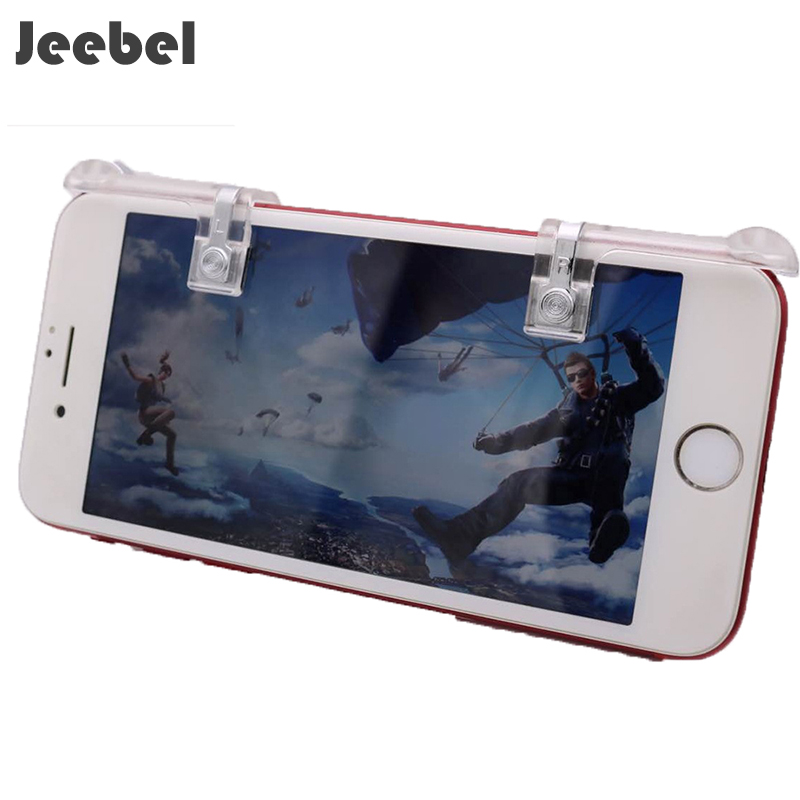 Jeebel 2Pcs Mobile Phone Game Controller Joysticks For PUBG STG FPS TPS Smartphone Shooting Gamepad Game Assist Tools Button