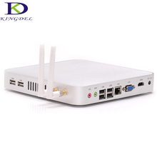 Kingdel Fanless Mini Nettop PC Intel Celeron 1037U Dual Core 1.8Ghz 4GB RAM 128GB SSD Wifi 1080P Win 7 VGA Metal Case