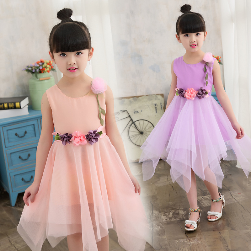 2019 Summer   Dress   for Children   Flower     Girls     Dress   Party Wedding   Dress   Elegent Princess Vestidos for 2-13Y