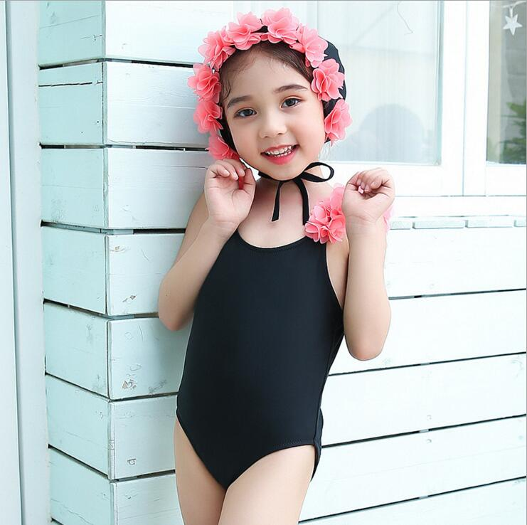 Ins Baby Girls Swimwear With Caps Lovely Bebe Flamingo Pattern Infant Beach Suit One Piece Toddler Suit Clothing Beautiful In Colour Swimwear