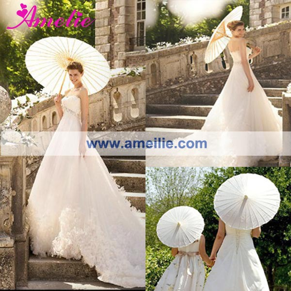 Buy Free Shipping Stock White Wedding Paper Parasol Umbrellas From Reliable