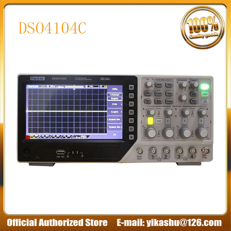 Hantek DSO4104C Digital Oscilloscope Portable 80 250 MHz 4 Channels 1GSa s Record Length 64K USB