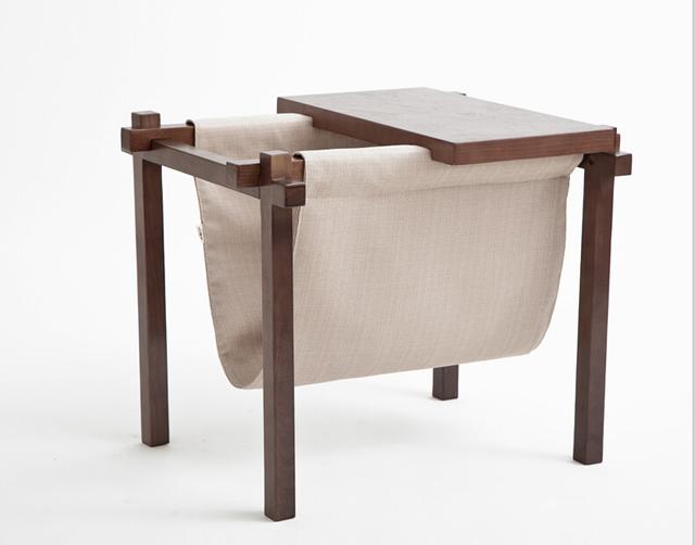 Revisteiro De Madeira moderna Sala de visitas Home Móveis De Madeira Livro Revista Stand Holder Design Da Tabela Do Lado Do Sofá de Canto Pequeno