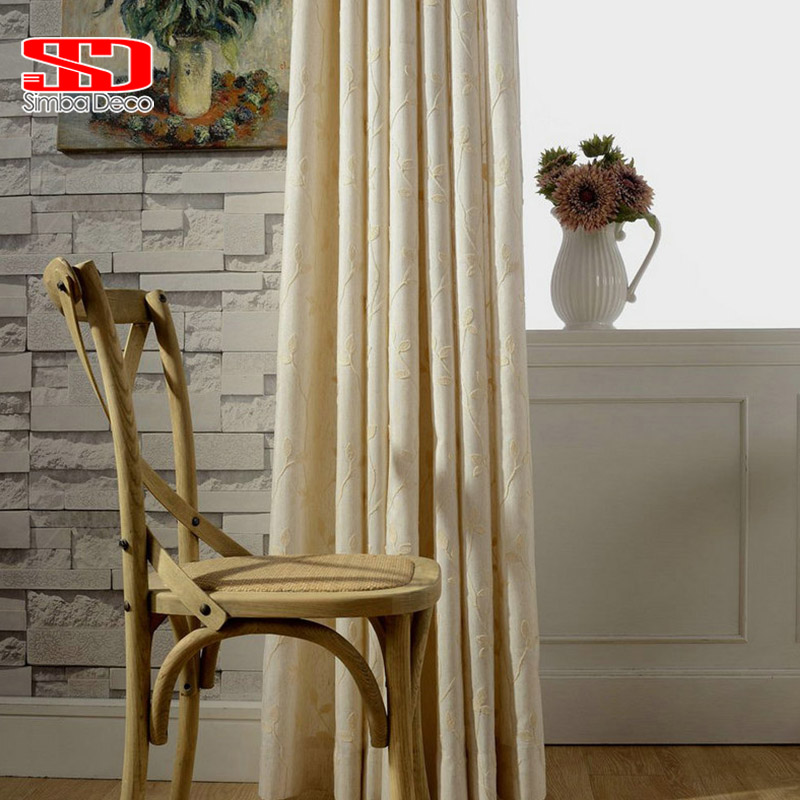 Bestickt Baumwolle Vorhänge für Wohnzimmer Amerikanischen stil ...
