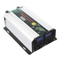 Чистая синусоида солнечный Мощность инвертор 1000 Вт пик 2000 Вт 12 В к Ac 110 В/220 В высокоэффективных Dc Мощность инверторы с ЖК дисплей Дисплей