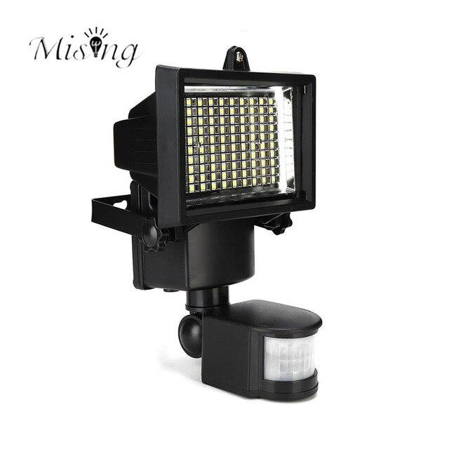 Delightful Mising 100 LED Solar Powerd Motion Sensor Light PIR Security Flood Lamp  Solar Floodlights Spotlight Outdoor