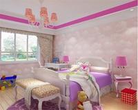 Beibehang High End Children S Room Papel De Parede Wall Paper Non Woven Blue Sky White