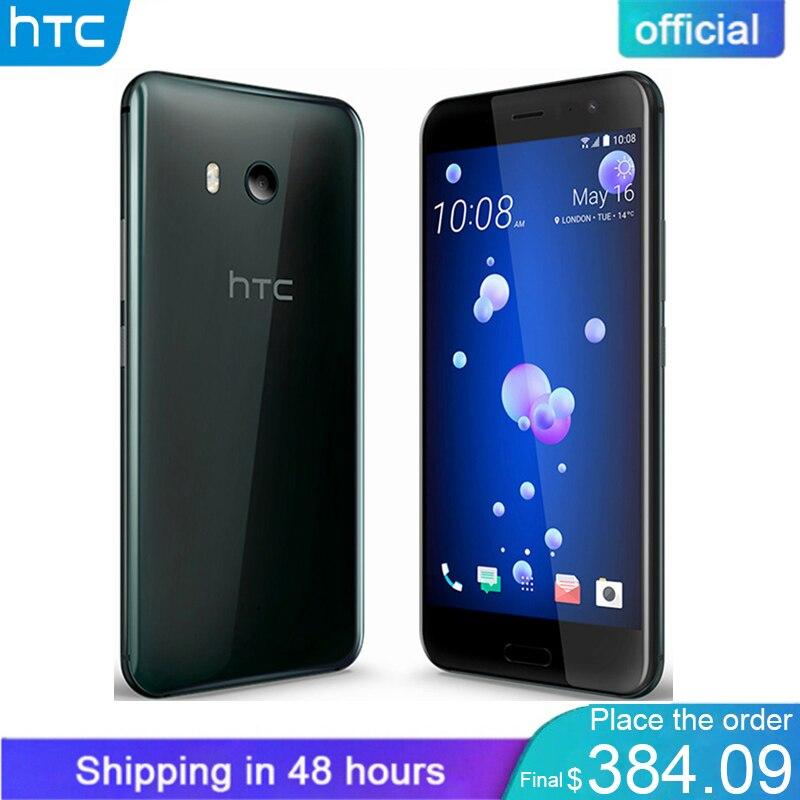 Officiel D'origine HTC U11 6 gb RAM 128 gb ROM Snapdragon 835 IP67 Étanche D'empreintes Digitales 4g LTE 5.5 pouce 16.0 MP Mobile Téléphone