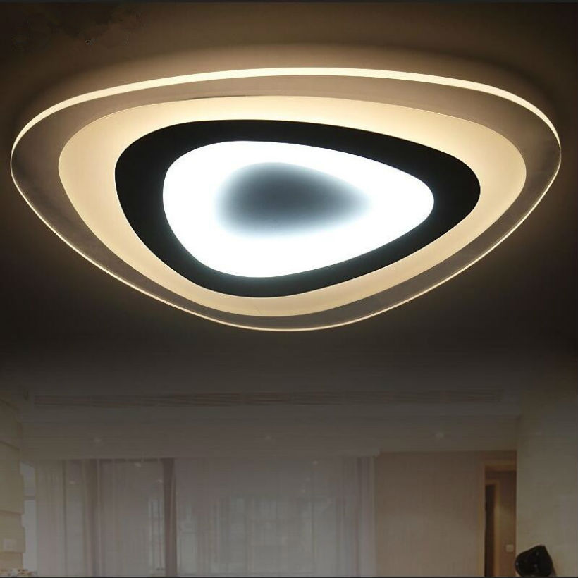 Modern 110 220v Ultra-thin Acrylic Led Ceiling Light Luces Led Para Casas Luz Plafon De Cristal Led Energy Saving Lamp Lustr