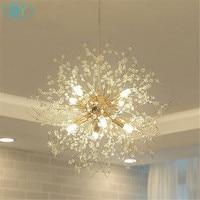 Modern D40cm D50cm Crystal Led Pendant Lights Nordic Industrial Gold G9 Led Pendant Lamp Warm White