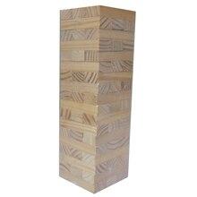 GOLDEN KEY 48pcs 54pcs Mini Blocks Wooden Tumbling Stacking Tower Jenga Kids Family Party Board Game Baby Education Toy Children