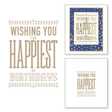 Wishing You Happiest Birthday Metal Hot Foil Plate for DIY Scrapbooking Letterpress Embossing Paper Cards Making Crafts New 2019