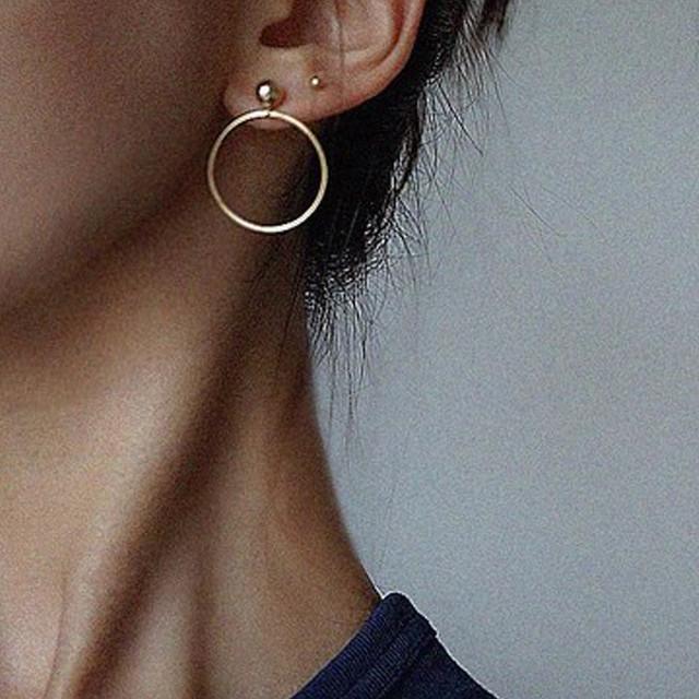 Punk Style Stud Hoop Earrings for Women