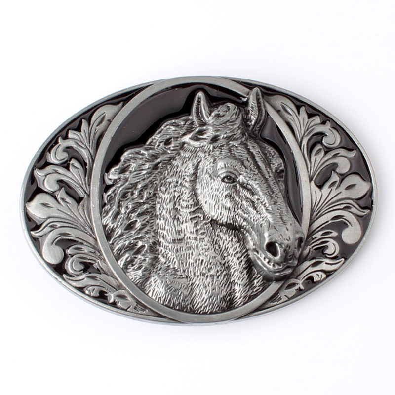 Horse Head Belt Buckle The Cowboy Style