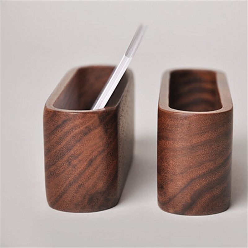 Fashion Simple Style Wood Meterials Desk Organizer Business Card Holder Display Device Card Stand Decaration Table