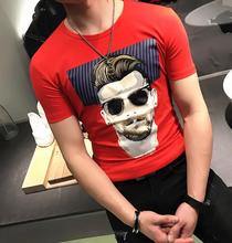 2017 Brand New Mens T-Shirt Slim Fit Print Summer T Shirt Men Casual O-Neck Short Sleeve Tee Shirt Men's Clothing Sale