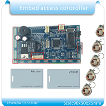 Бесплатная доставка 125 кГц RFID EM/ID Embedded двери доступа Управление rfid Близость дверцу Управление построения системы Интерком модуль