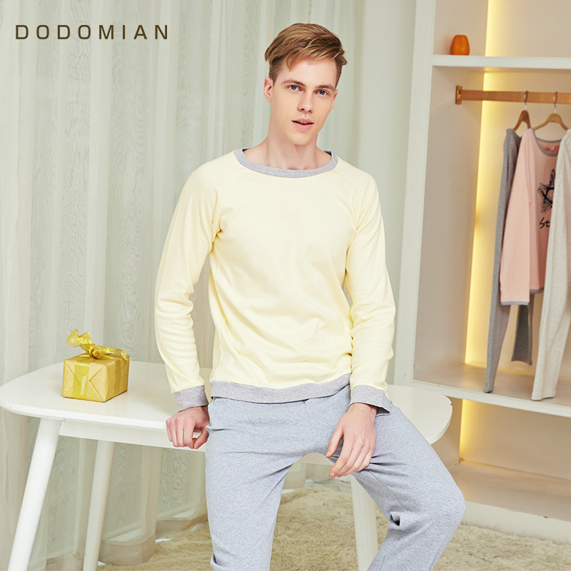 Brand Man PJS Cotton Indoor Male Pajamas Sets Home Suits Spring Autumn Women Sleepwear Homewears Plus Size Nightie For Mens