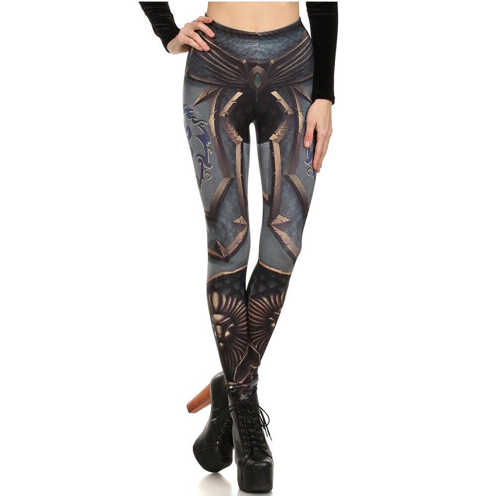 Armor Print Leggings Women High Waist Slim Fitness Leggings Elastic Causal Sexy Leggings Plus Size Leggins Mujer
