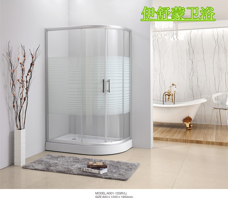 Yi Shumeng Whole Bathroom Shower Room Shower Room Sliding Door Glass Adorable Bathroom Partition Glass Model