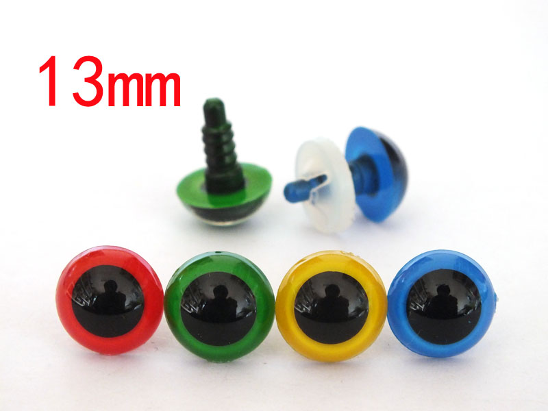 font b Toy b font accessories 80pcs lot 13mm colorful plastic doll eyes with washer