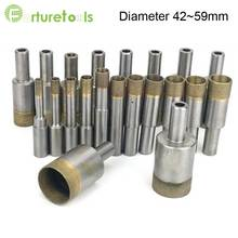 цена на 5pcs Sintered diamond hole saw steel body drill bit for glass and agate total Length 50mm Diameter 42~59mm glass tool zt003
