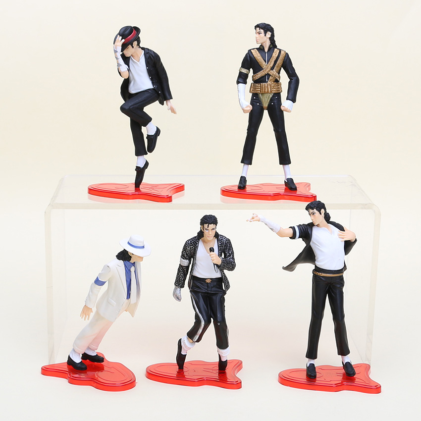 5pcs set michael jackson model toys 11 5cm action figures for Three jackson toy