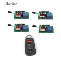 220V 10A 1CH Relay 4 Car Key Wireless RF Remote Control Switch Transmitter 4 Receiver AC