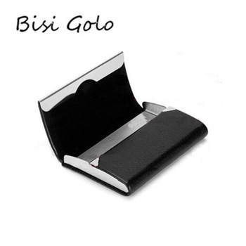 Bisi Goro 2021 New Wallet Men Bussiness Card Name Holder Pu  Leather ID Card Case Bank Card Holder Wallet Package 7 Colors 1