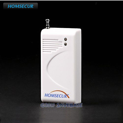 HOMSECUR A3 New 433MHz Wireless Vibration Break Breakage Glass Sensor For Our Alarm System wireless glass breakage sensor for gsm alarm system 433mhz